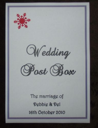 Post Box Label / Card - Snowflake Design